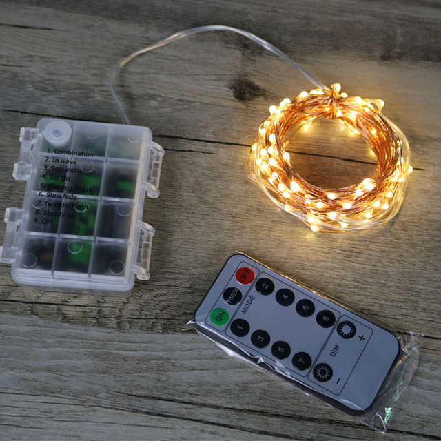 Us 705 510m Waterproof Remote Control Fairy Lights Battery Operated Led Lights Decoration 8 Mode Timer String Copper Wire Christmas In Led String
