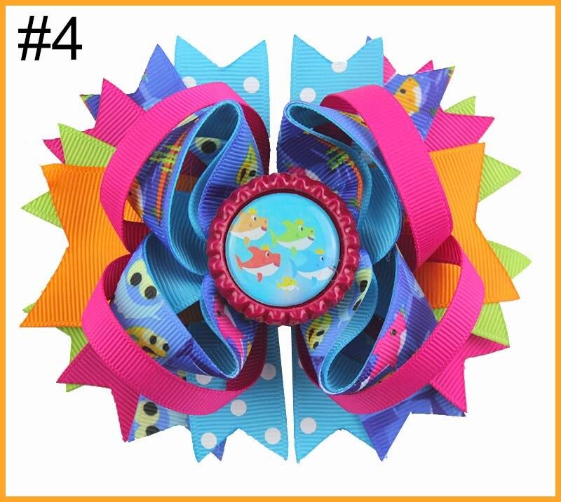 24 шт. мультфильм банты для волос с Детские Луки куклы зажимы девушка волосы луки для детей девушка волосы