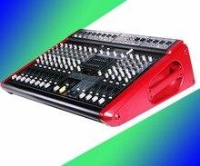Mixer com amplificador de potência de desempenho profissional sala de conferências U disco de alta-energia 12-way uma máquina