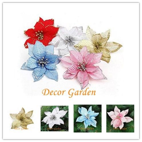 13cm 511 6color Artificial Flowers Silk Flowers Christmas