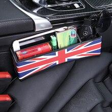 Gap Filler Assento de Carro multifunções Bilhete Organizador Caixa De Armazenamento Titular do Cartão De Nota Móvel para MINI Cooper Countryman R55 R52