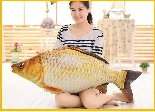 big creative plush fish toy new Crucian carp design pillow gift about 120cm 0632