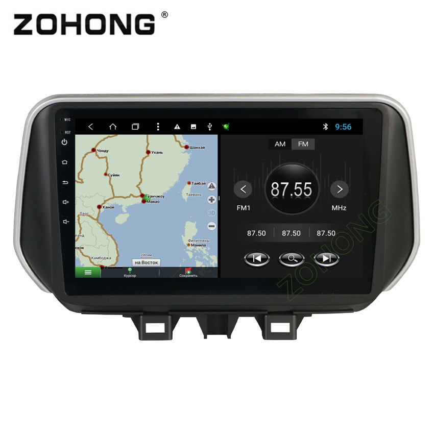 2.5D 10.2inch Octa 8 Core Android Car multimedia DVD Player  for Hyundai New Tucson IX35 2018 2019 CAR radio GPS navigation BT-in Car Multimedia Player from Automobiles & Motorcycles    2
