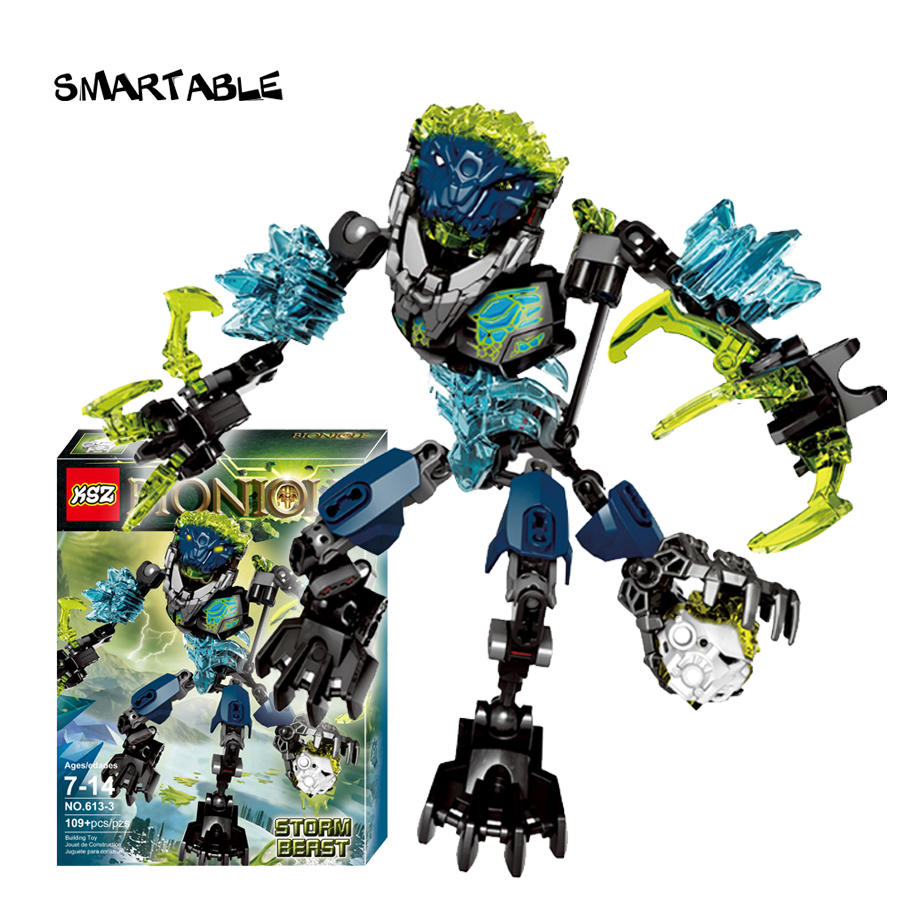 Smartable BIONICLE 109pcs Storm Beast  figures 613-3 Building Block toys Compatible legoing BIONICLE LEPIN Gift lepin 22001 pirate ship imperial warships model building block briks toys gift 1717pcs compatible legoed 10210