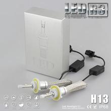 4800lm  Car LED Headlight Kit H13 Socket Daytime Lamp Foglight Copper Heat Dissipation Belt 6000K 40W 12V Alumminum Sheath
