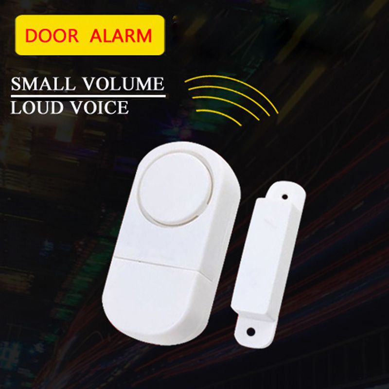 Wireless Door Window Sensor Detector Alarm System Home Security Burglar Alarm 433Mhz Door Magnetic Sensor Detector  цены