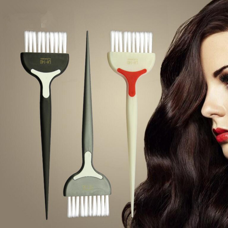 Random Color Hairstyling Dye Hair Brush Bleach Tint Perm Application Dye Coloring Comb Styling Hairdressing Barber Dyeing Tool