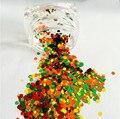 200-500g Colores de La Mezcla FORMAS de PUNTO REDONDO GLITTER Ronda Paillette Lentejuelas Nail Art Decoraciones de Uñas Glitter Manicura de Gel Esmalte de uñas
