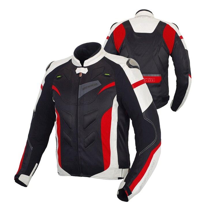 Benkia printemps été veste de moto hommes femmes respirant Motocross veste de course avec réflexion équipement de protection veste de motard