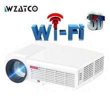 LED96 WI-FI 5500 люмен Android Smart Wi-Fi 1080 P Full HD LED ЖК-дисплей 3D видео dvb-t ТВ-проектор Portable мультимедиа домашний кинотеатр Бимер