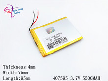407595 5500mah Li ion Tablet Pc For 7 8 9 Inch 3 7v Polymer Lithiumion