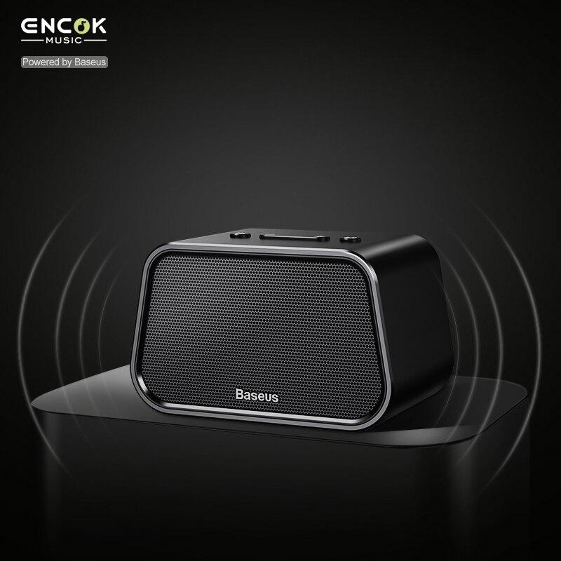Baseus V4.2 Mini Bluetooth Haut-Parleur Pour Téléphone Ordinateur Portable Portable Sans Fil Haut-Parleur TF Carte AUX-IN Audio USB Lecteur de Musique PC Haut-Parleur