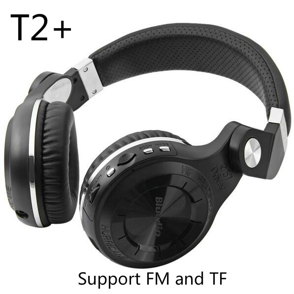 Bluedio T2+ Turbo Wireless Bluetooth 4.1 Stereo Headset Hifi T2(Plus) Earphone Headphone Support TF FM Radio For Smart phones bluedio h bluetooth headphone stereo wireless earphones built in mic micro sd fm radio over ear noise canceling hifi headset