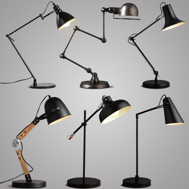 Creative New Modern Design Nordic Beside Iron Metal Tablelamps Desk LED Lighting Lamp for Living Room,Bedroom 6 Style TLL-434 new 2017 modern table lamps metal personalized desk lamp with glass shade for beside home decor for bedroom living room