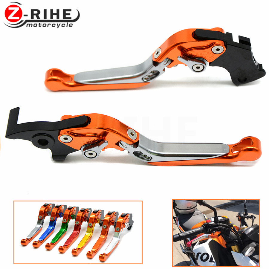 Brake Folding Adjustable Motorcycle accessories Brake Clutch Levers Telescopic folding For ktm 690 Duke/SMC/SMCR 690 Enduro R motorcycle front rider seat leather cover for ktm 125 200 390 duke
