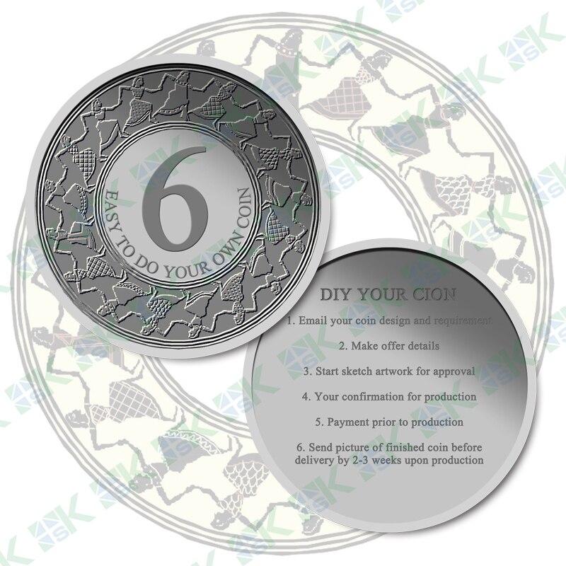 Comment personnaliser vos propres pièces de monnaie faire un design personnalisé différentes pièces de monnaie en métal fini 2016 nouveau cadeau d'artisanat en métal pour anniversaire