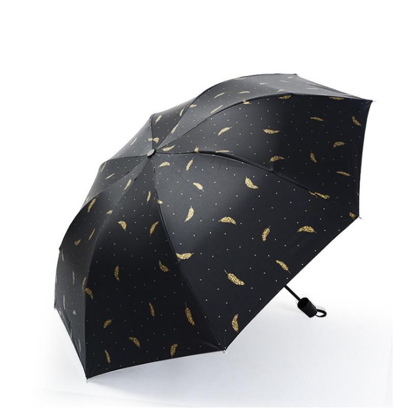 6a92d043e Discoloration Three Fold Vinyl Sunscreen Advertising Umbrella Sun Shade Sun Umbrella  Black Coating Paragus Promotion Gift