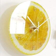 Cute Fruit Cartoon Wall Clock Kids Clock Mechanism Watch