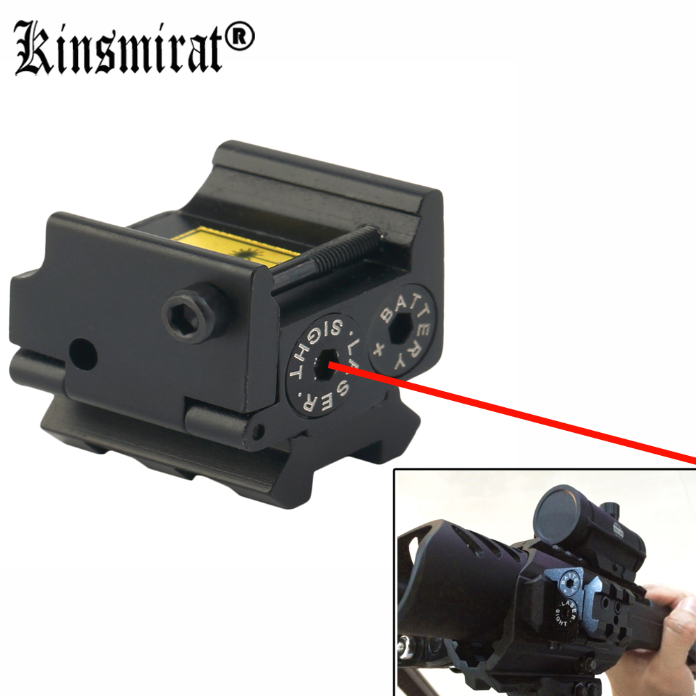 Mini Hunting 650nm Red Dot Laser Sight Scope Fit Airsoft Light For 20mm Rail Mount Compact