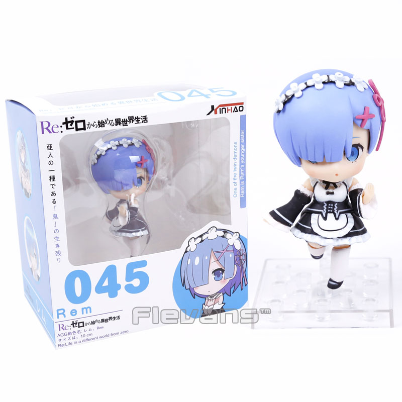 Nendoroid  Re:Life in a different world from zero Rem #045 / Ram #046 PVC Action Figure Collectible Model Toy Doll 23cm re life in a different world from zero rem action figure wedding dress ver rem pvc figure toy brinquedos