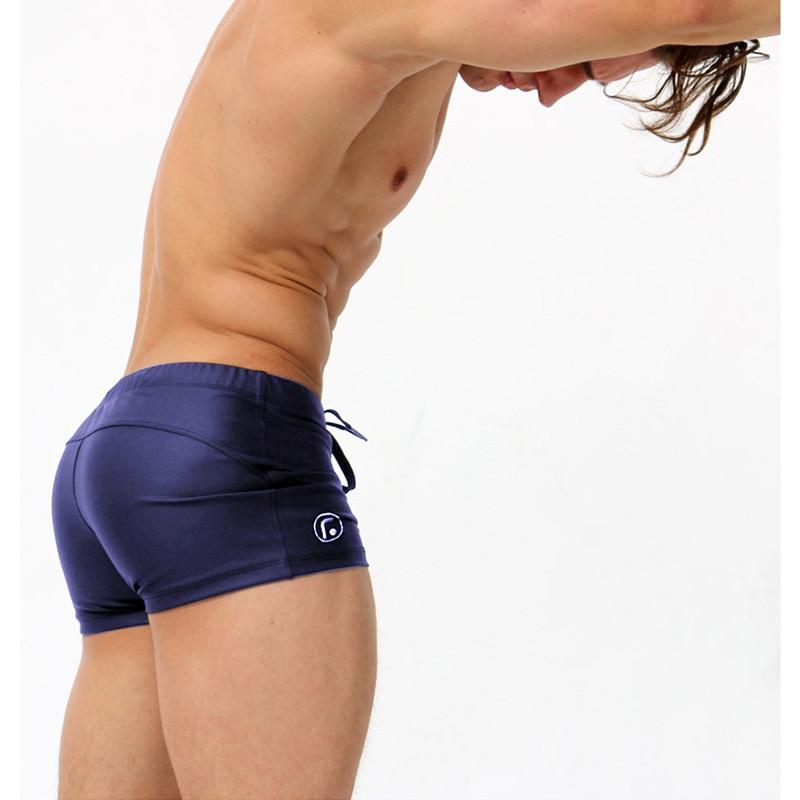 Aqux marca sexy hombres nadar escritos de poca altura de los hombres del traje d