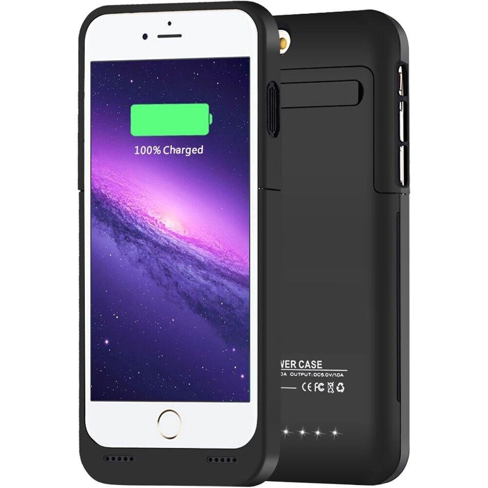 Цена за 3500 мАч Портативный Резервное копирование Внешняя Батарея Зарядное устройство ca s e Мощность Bank пакет Защитная крышка W/подставка для iPhone 6 6S Перезаряжаемые