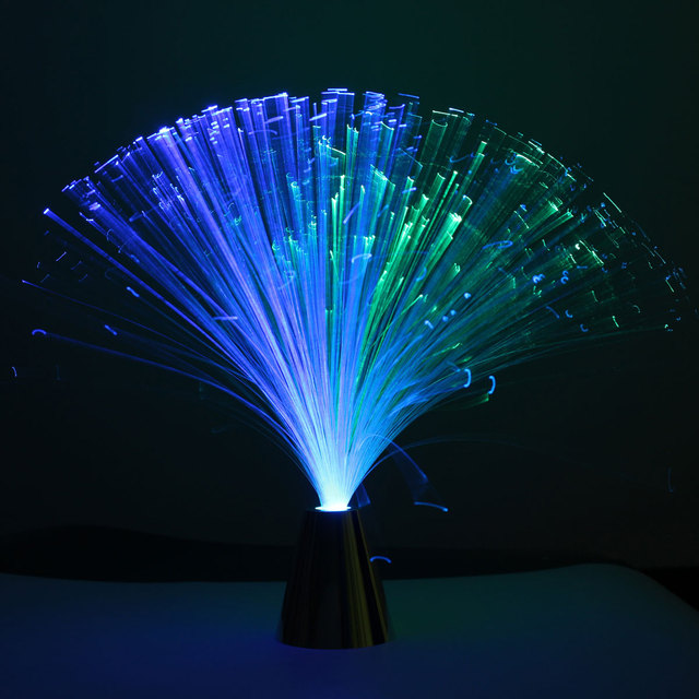 Romantique Fibre Optique Led Night Light Changement De Couleur Lampe