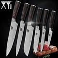 XYj Küche Messer Damaskus Veins Edelstahl Messer Farbe Holz Griff Schäl Utility Santoku Slicing Chef Kochen Messer