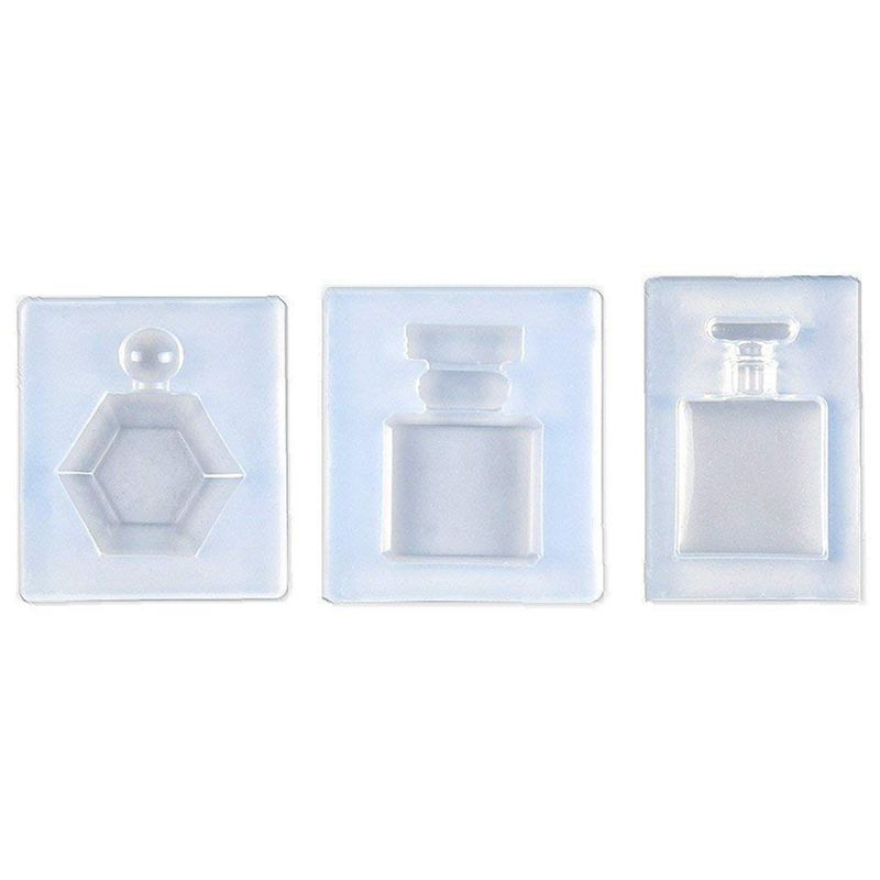 3 Pcs Perfume Bottle Epoxy Resin Shape Mold, Pendant Clay Silicone Mold With Jewelry Molds,Earring Necklace Making And DIY Cra
