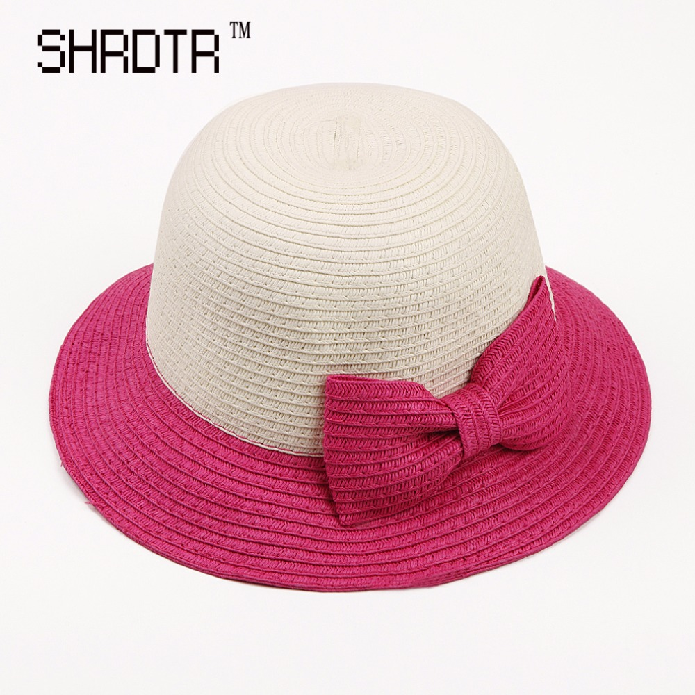 2017 children sun hat two color dome straw hat cute baby bow tie beach hat  boy and girl travel cap-in Hats   Caps from Mother   Kids on Aliexpress.com  ... d788a32ff82