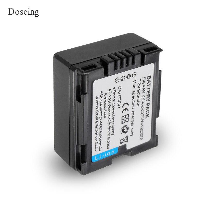 7.2 V 0.9Ah CGA-DU07 CGA DU07 Batterie Au Lithium Pour PANASONIC CGR-DU06 DU07 NV-GS10 CGA-DU12 CGA-DU14 CGA-DU21 GS100K GS17E PV-GS65