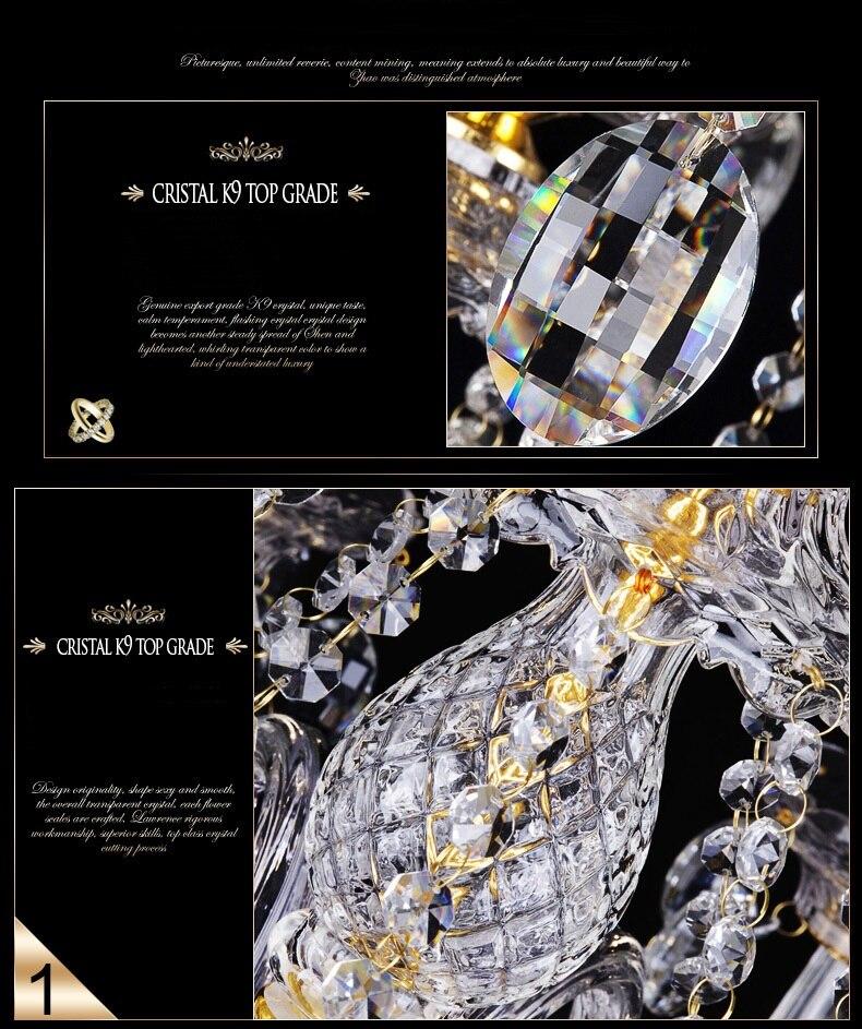 lustres luxo moderno lustre iluminação moda luxo ouro transparente k9 cristal