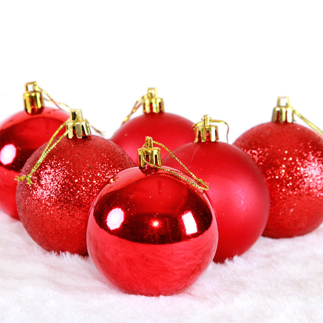 68cm light matte gold gold and silver christmas balls of red and blue ball - Red And Silver Christmas Ornaments