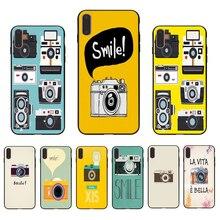 IMIDO Camera Smile  TPU black Phone Case Cover Shell For Iphone 5 5S SE 6 6S 6PLUS 6SPLUS 7 8 7PLUS 8PLUS X XS XR XSMAX