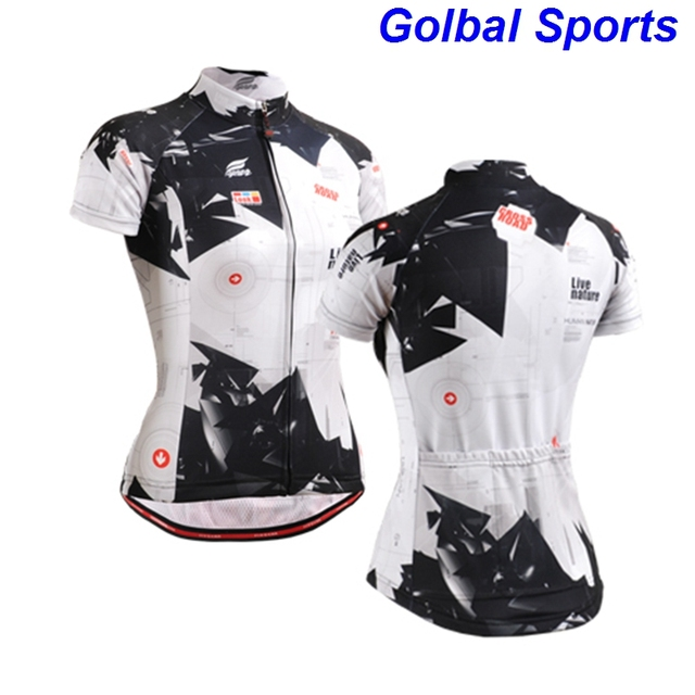 2d91d48b US $31.8 |black and white jerseys plus size women clothing shirt woman  cross road bicylce recycling jersey-in Cycling Jerseys from Sports & ...