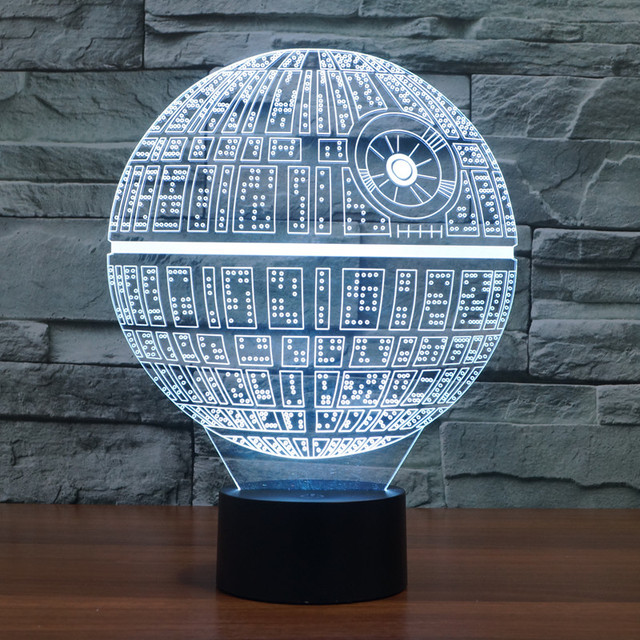 3D Novelty Star Wars Death Star LED Lamp