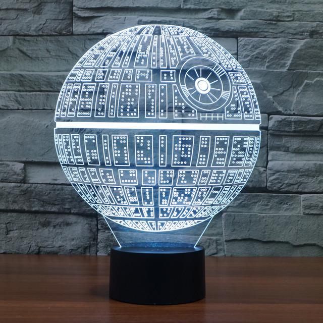 3D Novelty Star Wars Death Star LED Lamp