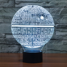 Star Wars Death Star 7 Colors Changing LED Lamp