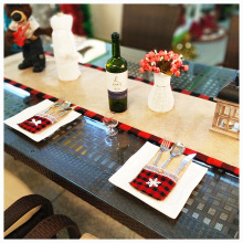 4 Pcs Christmas knife and fork set decorations Restaurant hotel decoration burlap linen