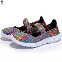 Women S Casual Ning Breathable Knitted Mesh Fabric Dance Sneaker Shoes