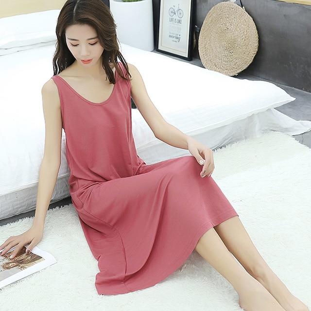 2019 קיץ חדש בתוספת גודל גבירותיי אפוד ארוך שמלת נשים loose הלבשת sleepdress שרוולים כותונת עבור 100kg