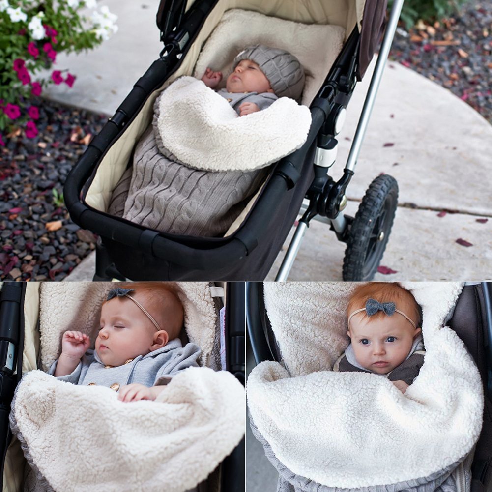 Baby Sleeping Bag Baby Winter Autumn Warm Sleepsack For Baby Stroller Cotton Knitted Envelopes Newborn Unisex Sleep Sack