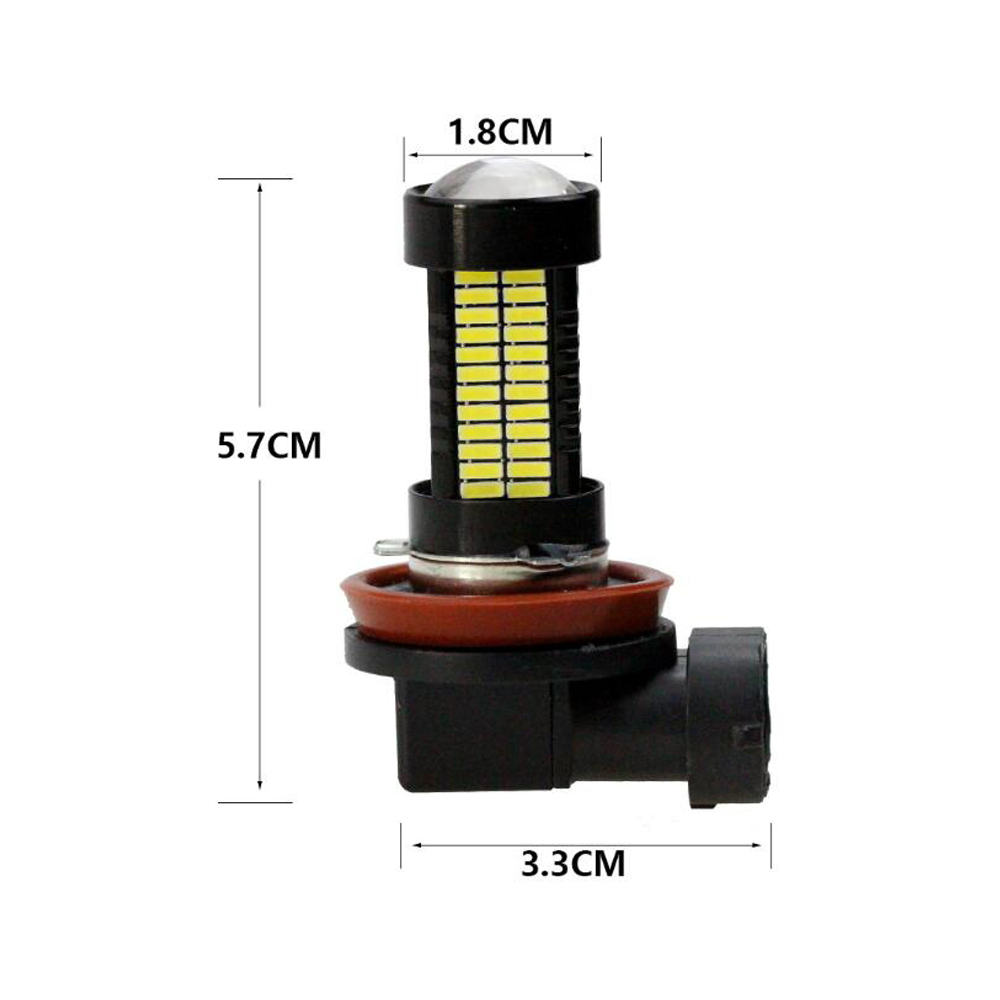 Image 2 - 2pcs H8 H11 Auto LED Fog Light Bright White 12V 108SMD 4014 55W LED HeadLight Bulb DRL Lamp For Motorcycle Car Accessories-in Car Fog Lamp from Automobiles & Motorcycles