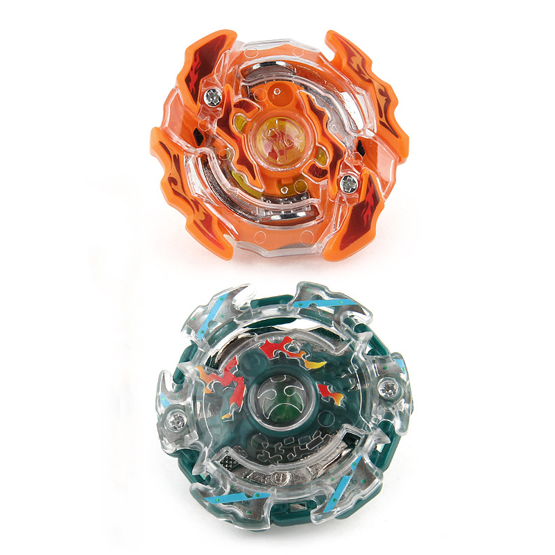 Novelty funny beyblade burst with launcher hot sale popular boy puzzle spinning tops toy children best Christmas gift two styles