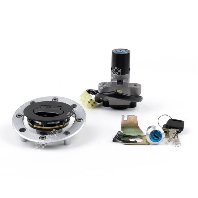Motorcycle Lockset Universal Ignition Key Switch Lock+ Fuel Gas Cap + Steering Lock + Keys For Suzuki GS500 2001-2012