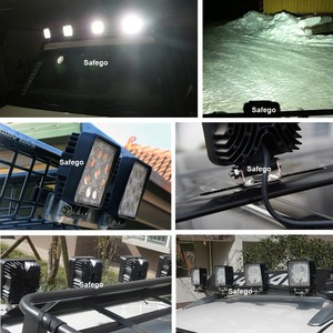 Image 5 - Safego 2X car 27W led work light lamp 12V led driving lights 4X4 ATV tractor offroad 27W led worklight fog lamp for trucks 24V