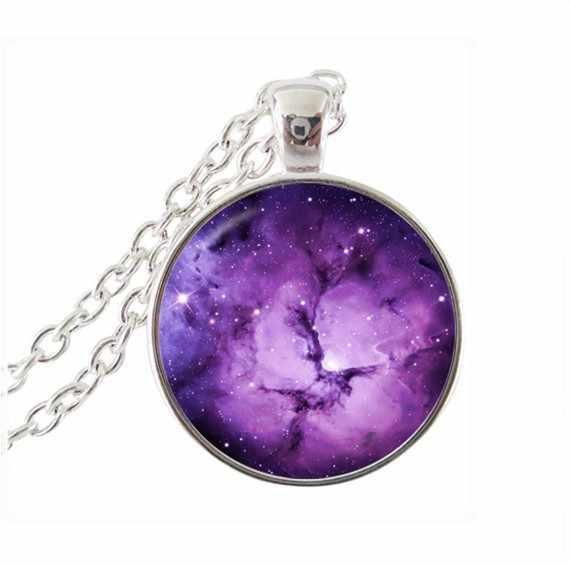 2017 nouveau Maxi colliers Collares Collier mode bijoux galaxie déclaration Collier espace univers pendentif chaîne tour de cou HZ1