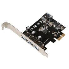 USB 3.0 (3 + 1) 3 Внешних + 1 Внутренних Портов PCI-e PCI Experss Контроллер Карты с чип питания VL805 Оптовая