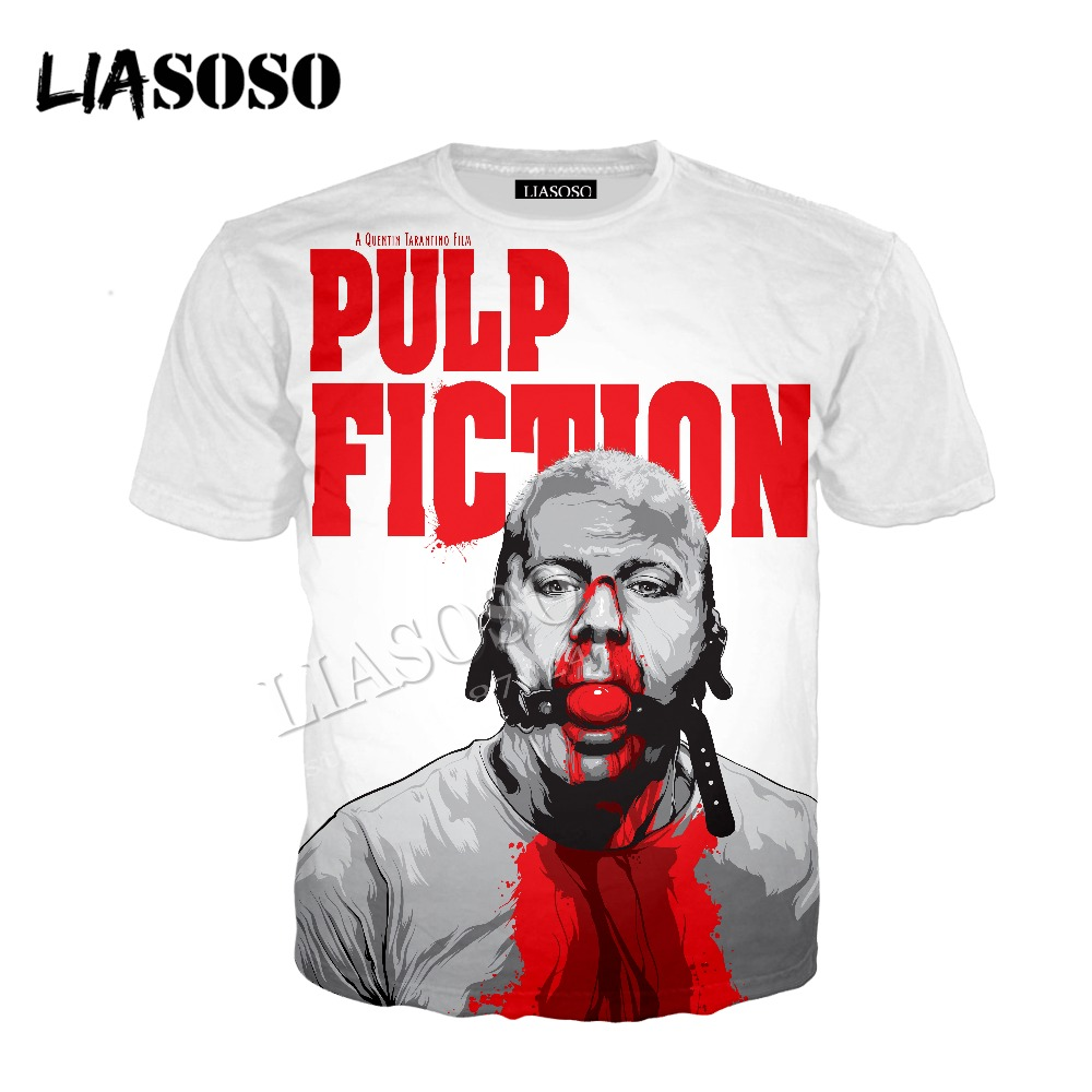 LIASOSO latest 3D print comfort polyester sportswear set action movies Pulp Fiction black humor men women T-shirt hoodie CX805