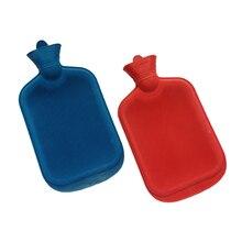 Dozzlor 1 piezas gruesa botellas de agua caliente de goma portátil Invierno caliente de la botella de agua de mano a las chicas de mano de bolsillo de pies caliente bolsa de agua